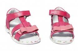 Sandale copii  - Sandalute fete pj shoes inalte pe glezna Eva roz 20-26