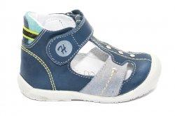 Sandale copii  - Sandalute ortopedice copii 273 albastru gri turcoaz 18-24