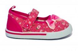 Tenisi copii  - Tenisi fete padini brant din piele 18002 jeans roz 20-25