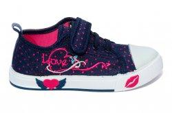 Tenisi copii  - Tenisi fete textil 1292 blu roz 26-31