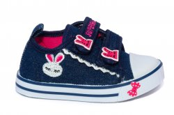 Tenisi copii  - Tenisi fete textil spuer gear 1118 jeans roz 20-25