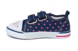 Tenisi copii  - Tenisi fete textil super gear 1231 blu buline 26-31