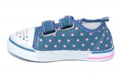 Tenisi copii  - Tenisi fete textil super gear 1231 jeans buline 26-31