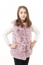 Veste copii  - Veste fete blana 2525 mov 110-140