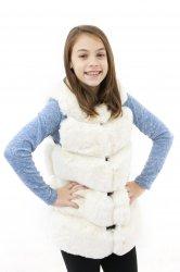 Veste copii  - Veste fete din blana 2525 bej 110-140cm