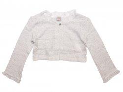 Bolerou  - Bolerou fete din tricot alb 2