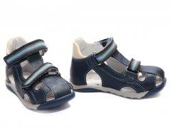 Sandale copii  - Sandale baieti PJ Shoes Mario blu