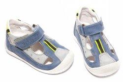 Sandale copii  - Sandale copii hokide 139 albastru gri