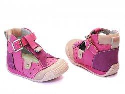 Sandale copii  - Sandalute copii piele hokide 305 roz
