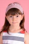 Bentite fete pentru cap 506 alba cu buline rosii