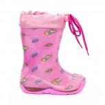 Cizme cauciuc fete cu manseta 2 Melc roz 20-30