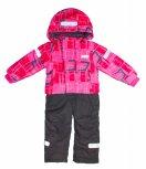 Costum de ski fete intreg 1829 roz 86-128cm
