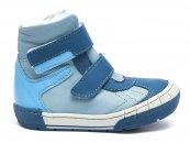 Ghete baieti cu blana pj shoes Kiro albastru bleu 20-29