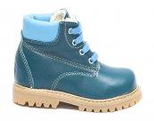 Ghete copii blana pj shoes Luca albastru turcoaz 20-26
