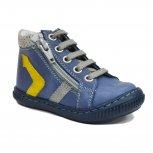 Ghete copii ortopedice hokide 377 albastru galben TG 18-25