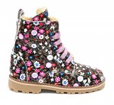 Ghete cu blana fete pj shoes King flori roz 27-36