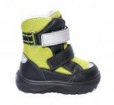 Incaltaminte iarna copii gore-tex 93312 negru verde 20-25