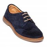 Pantofi copii din velur pj shoes Frigerio bluemarin 31-37