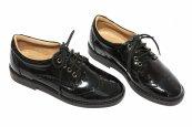 Pantofi copii piele lacuita scoala 102 negru lac brodat 28-37