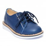 Pantofi copii piele naturala 1399 blu 20-25