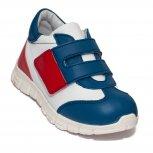 Pantofi copii pj shoes Tokyo albastru alb rosu 18-26