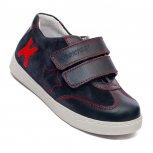 Pantofi copii sport hokide piele 127 blu rosu 26-37