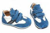 Pantofi copii sport piele avus 325 albastru alb