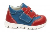Pantofi copii sport piele pj shoes Tokyo blu rosu 18-26