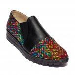 Pantofi dama piele DC5 negru pipit color 34-41