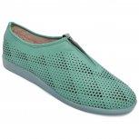 Pantofi dama piele perforati cu laser 1223 verde 35-41