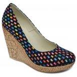 Pantofi dama platforma piele talpa 10cm Tisa 569 sah 34-41