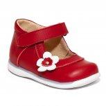 Pantofi fete inalti pe glezna 746 rosu alb 18-25