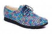 Pantofi fete piele 026s2 albastru sah 34-41