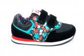 Pantofi fete sport 686 negru turcoaz 30-35