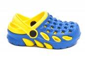 Papuci copii crocsi de plaja 1033 albastru galben 18-35