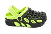 Papuci crocsi copii 1033 negru verde 18-29
