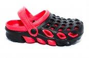 Papuci crocsi copii de plaja 1033 negru rosu 30-35