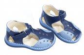 Sandale baieti 345 blu gri