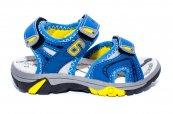 Sandale baieti brant din piele 481 albastru galben 24-35