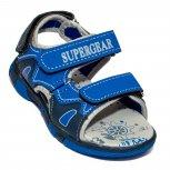 Sandale baieti cu brant din piele 1298 albastru 25-30