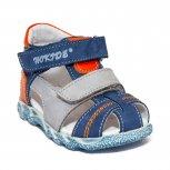 Sandale baieti cu picior lat hokide 405 albastru gri port 18-25