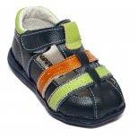 Sandale baieti flexibile 1597 blu verde 19-24