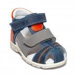 Sandale baieti picior lat hokide 405 blu gri portocaliu 18-27