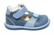 Sandale baieti piele 1323 blu gri 18-25
