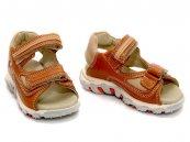 Sandale copii din piele 178 portocaliu