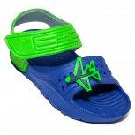 Sandale copii din plastic de vara 1581 albastru verde 24-30