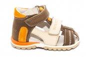 Sandale copii picior lat hokide 405 maro port 18-25