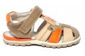 Sandale copii piele hokide 407 maro port 26-32