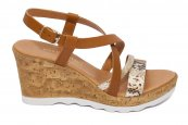 Sandale cu platforma dama piele naturala W 990 maro 35-41