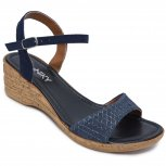 Sandale dama platforma piele 111 blu lux 35-41